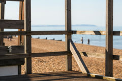 Beach Hut view Stock Photography