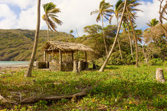 A beach hut on the windward side of bequia Stock Photo