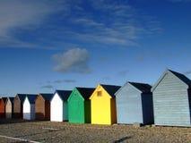 Beach huts 005. Beach huts near the sea in England Stock Image