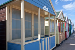Beach Huts. A row of beach huts along Southwold's promenade Royalty Free Stock Photography