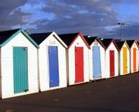 Beach Huts. In Preston, Paignton, Devon. England Stock Photo