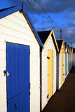 Beach huts. Traditional British seaside beach huts, photographed at Torquay, England Royalty Free Stock Photos