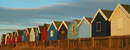 Beach huts. Colorful beach huts in Southwold, England Stock Photography