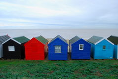 Beach huts. Colorful beach huts in Southwold, England Royalty Free Stock Photo