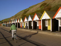 Beach huts. At the Bournemouth's promenade (England, UK Stock Photo