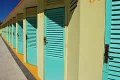 Beach huts Royalty Free Stock Photo