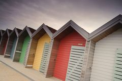 Beach huts Stock Images