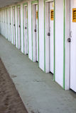 Beach huts. Photo of several beach huts Stock Photography