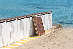 Beach huts. Stock Image