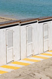 Beach huts. Royalty Free Stock Image