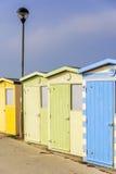 Beach huts Royalty Free Stock Photos