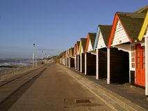 Beach huts. At the Bournemouth promenade (England Stock Photo