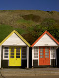 Beach huts. At the Bournemouth promenade (England stock photography
