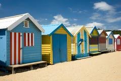 Beach Huts stock image