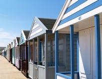 Beach Huts. Colourful Beach huts along the promenade of an English Beach in suffolk Royalty Free Stock Photo