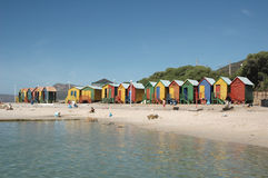 Beach Huts. At St James Beach, Cape Town, South Africa Stock Photos