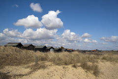 Beach Huts at Walberswick, Suffolk, England Stock Photography