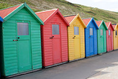 Beach Huts At Whitby Royalty Free Stock Image