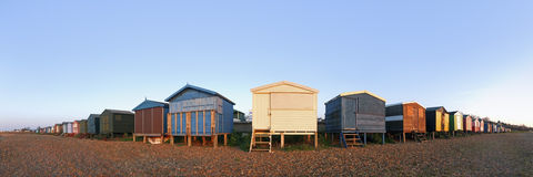 Beach huts on beach Royalty Free Stock Photo