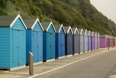 Beach huts on the beach in Bournemouth, UK Royalty Free Stock Photos