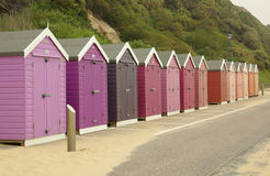 Beach huts on the beach in Bournemouth, UK Royalty Free Stock Photo