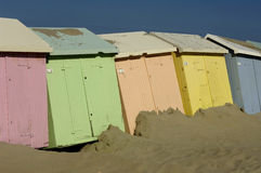 Beach huts in Berck in Nord Pas de Calais Stock Photos