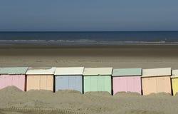 Beach huts in Berck in Nord Pas de Calais Royalty Free Stock Photo