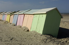 Beach huts in Berck in Nord Pas de Calais Royalty Free Stock Images