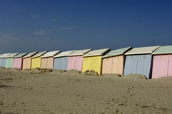 Beach huts in Berck in Nord Pas de Calais Royalty Free Stock Photos