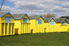 Beach huts at Bognor Regis. Sussex. England Stock Photo