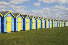 Beach huts at Bognor Regis. UK Stock Photos