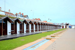 Beach huts, Bridlington, Yorkshire. Stock Images