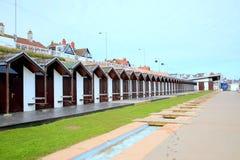 Beach huts, Bridlington, Yorkshire. Stock Images