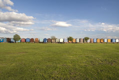 Beach Huts at Brightlingsea, Essex, England Stock Photography