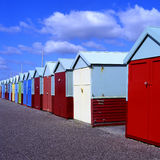 Beach Huts at Brighton England Royalty Free Stock Image