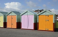 Beach huts at Brighton. England Stock Photo