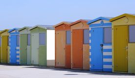 Beach Huts. British beach huts on the south coast of England Royalty Free Stock Image