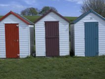 Beach huts, Broadsands Stock Photography