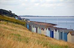 Beach Huts By Coast Royalty Free Stock Photo