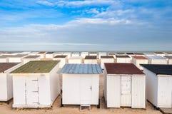 Beach Huts in Calais Stock Photography