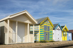 Beach Huts at Chapel St Leonards Royalty Free Stock Image