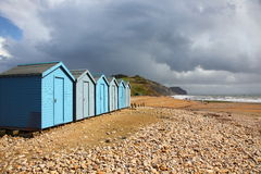 Beach huts in Charmouth Royalty Free Stock Photography