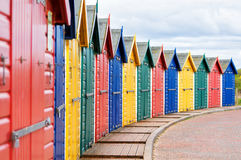 Beach huts. Royalty Free Stock Photo