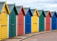 Beach huts. Stock Photo
