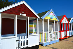 Beach huts. Colourful beach huts in Norwich, United Kingdom Royalty Free Stock Photo
