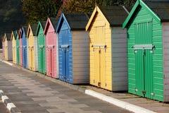 Beach huts at Coryton Cove Royalty Free Stock Images