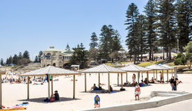 Beach Huts: Cottesloe Beach, Western Australia royalty free stock image
