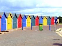 Beach Huts, Dawlish Warren, Devon. Colourful beach huts on the promenade at Dawlish Warren,South Devon, England, UK Stock Photos