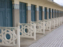 Beach huts, Deauville Stock Images
