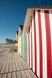 Beach huts detail Stock Photos